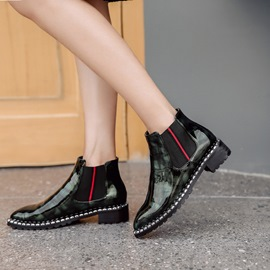 Ericdress Elastic Band Patchwork Plain Ankle Boots