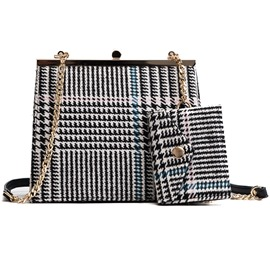 Ericdress Chic Stripe Pattern Chain Handbag (Two Bags Set)