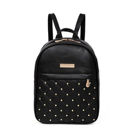 Ericdress Solid Color Rivet Decoration Women Backpack