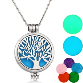 Ericdress Nightlight Tree Essential Oil Necklace