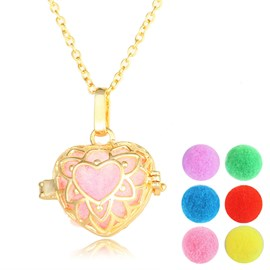 Ericdress Romantic Creative Lotus Pendant Essential Oil Necklace