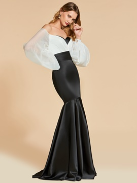 Ericdress Off The Shoulder Long Sleeve Mermaid Evening Dress
