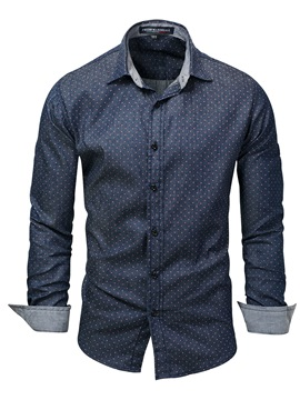 Ericdress Lapel Long Sleeve Men's Casual Shirt