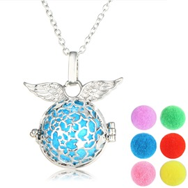 Ericdress Angle's Wing Pendant Essential Oil Necklace