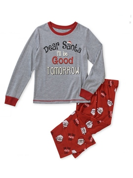 Ericdress Christmas Letter & Santa Print Boy's Outfit Pajamas
