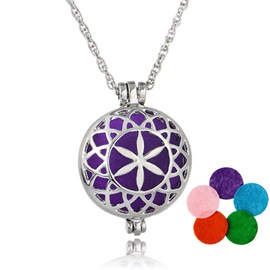 Ericdress Hollow Out Mulitcolor Ultra Violet Essential Oil Necklace