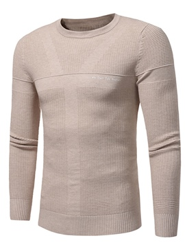 Ericdress Round Neck Slim Long Sleeve Men's Pullover Sweater
