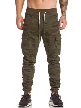 Ericdress Lace-Up Loose Full Length Men's Pants