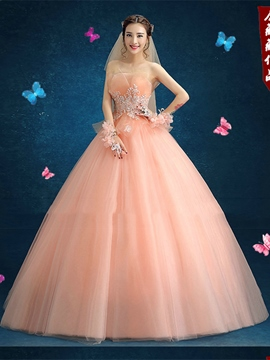 417b520d7d9 Ericdress Appliques Strapless Beading Ball Quinceanera Dress