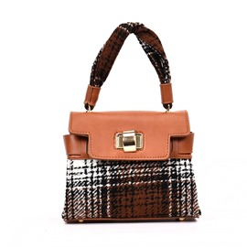 Ericdress Korean Style Plaid Women Handbag
