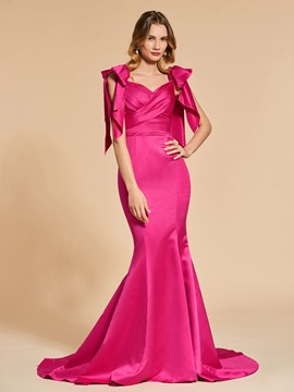 Ericdress Short Sleeve Sweetheart Mermaid Evening Dress With Court Train