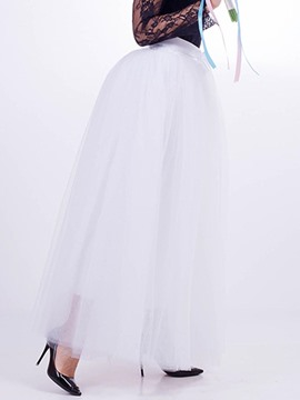 Ericdress Mesh Lace-Up Women's Wedding Skirt