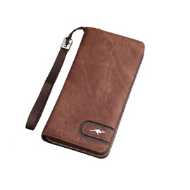 Ericdress Long Type Solid Color Men's Wallet