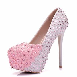 Ericdress Floral Appliques Stiletto Heel Slip-On Wedding Shoes