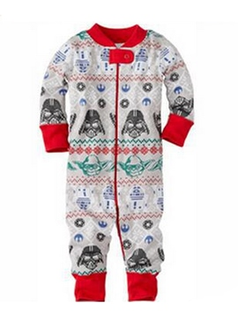 Ericdress Christmas Print Color Block Unisex Baby's Jumpsuits
