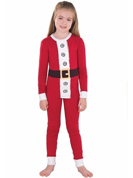 Ericdress Christmas Color Block Unisex Outfit Pajamas