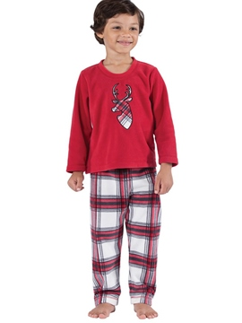 Ericdress Christmas Deer Print Plaid Unisex Outfit Pajamas