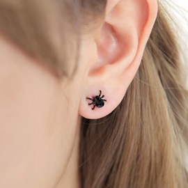 Ericdress Cute BlackSpider Earring for Women