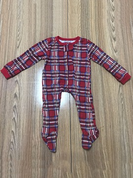 Ericdress Christmas Plaid Round Neck Long Sleeve Unisex Baby's Jumpsuits