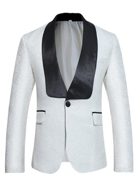 Ericdress Lapel Color Block Fit Wedding Men's Blazer