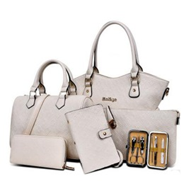 Ericdress Casual Embossing Women Handbag (Six Bags Set)