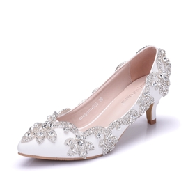 Ericdress Rhinestone Slip-On Low-Cut Wedding Shoes