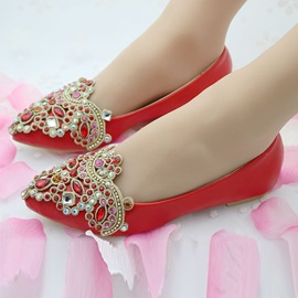 Ericdress Concise Rhinestone Slip-On Wedding Shoes
