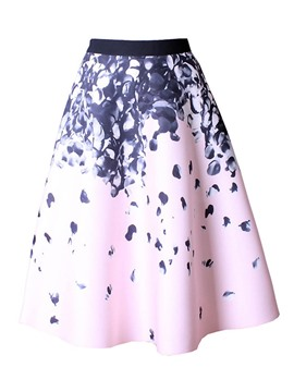 Ericdress Knee-Length Print Women's Skirt