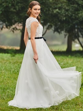 Ericdress A Line Appliques Tulle Wedding Dress