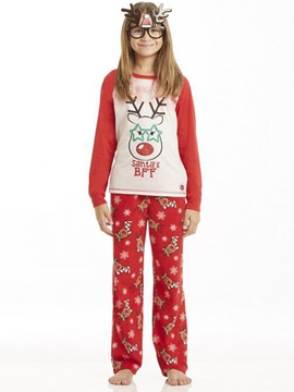Ericdress Christmas Letter & Deer Print Unisex Outfit Pajamas