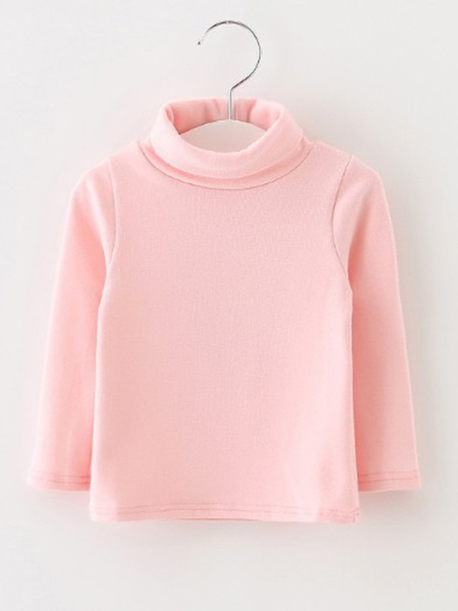 Ericdress Plain Turtleneck Long Sleeve Girls' Sweater