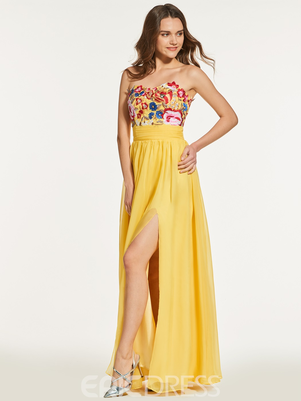 Ericdress A Line Empire Embroidery Backless Prom Dress