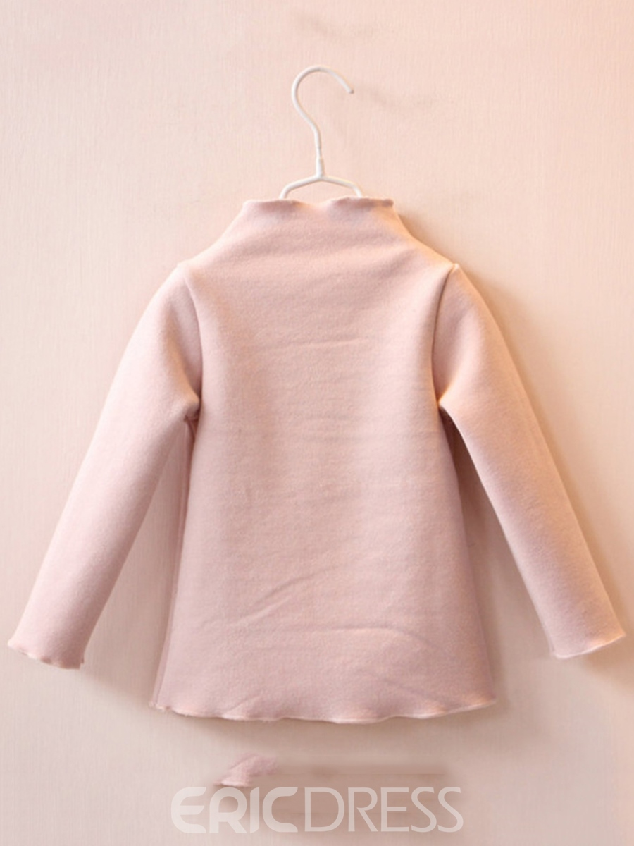 Ericdress Heart Print Patchwork Turtleneck Thick Girl's Sweater