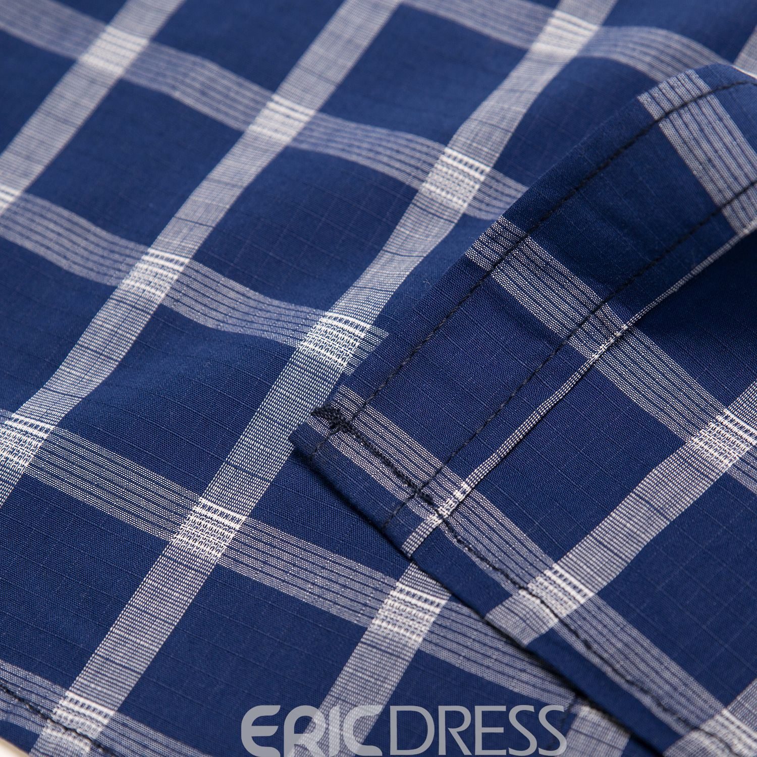 Ericdress Lapel Plaid Slim Long Sleeve Men's Casual Shirt