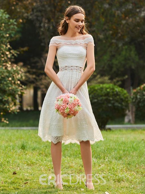 Ericdress A Line Lace Knee Length Bridesmaid Dress