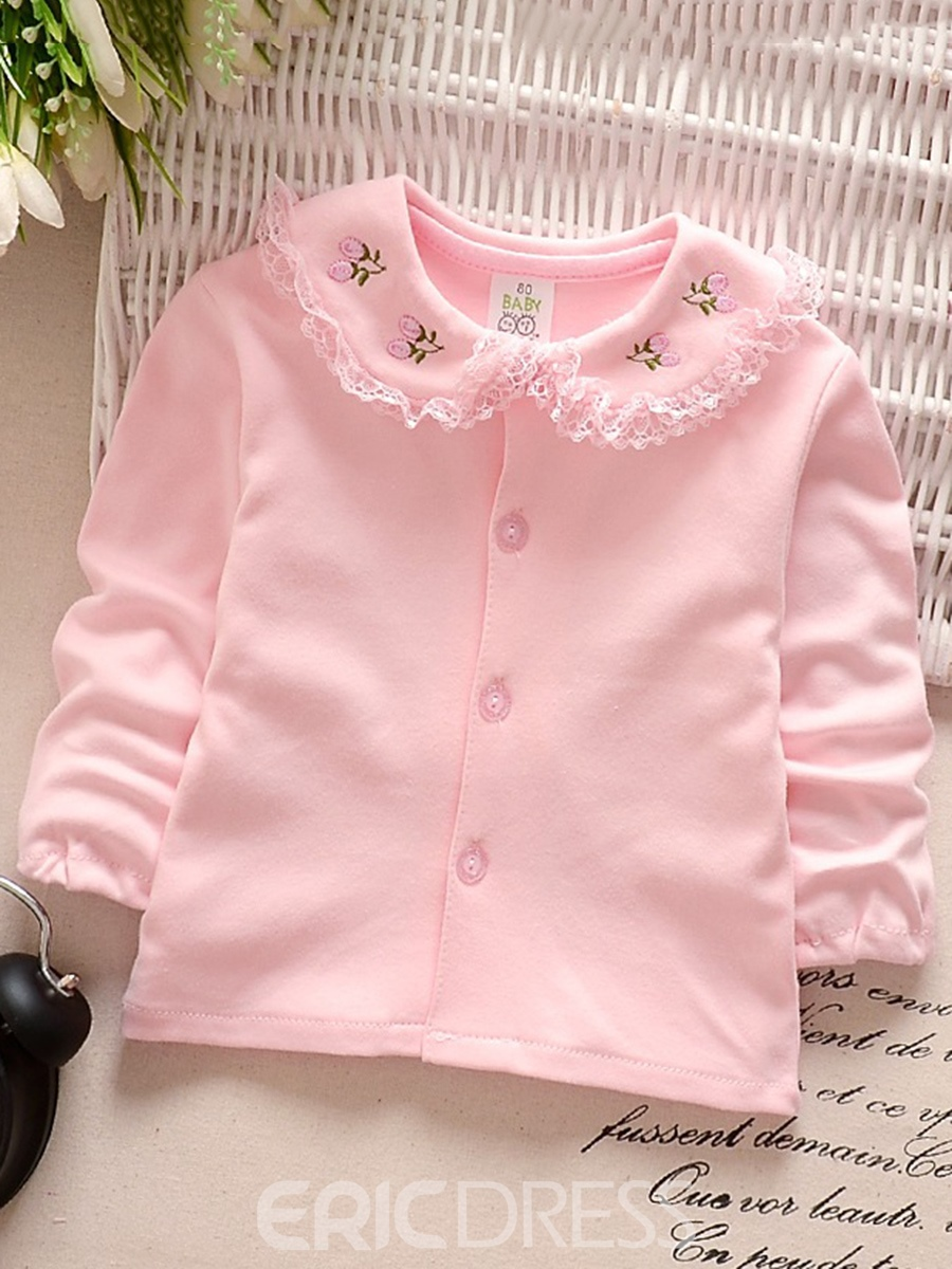 Ericdress Peter Pan Collar Single-Breasted Baby Girl's Cardigan