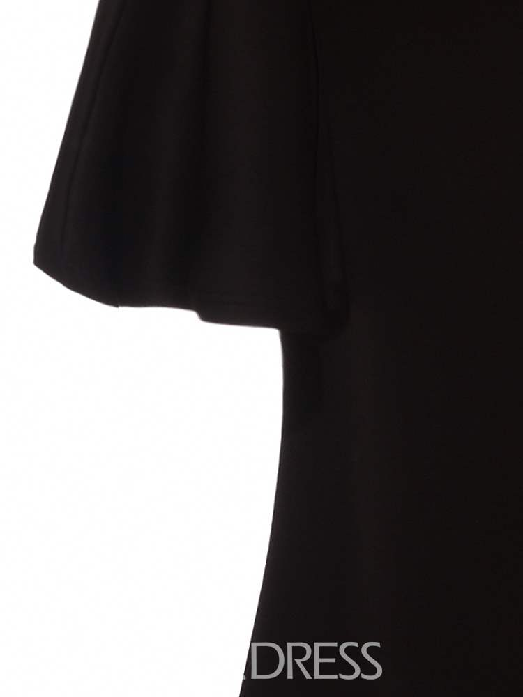 Ericdress V-Neck Polyester Plusee Women's Maxi Dress