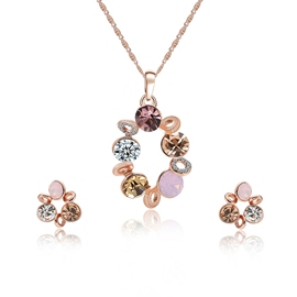 Ericdress Rhinestone Inaly Pendant Jewelry Set for Women
