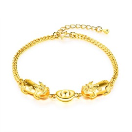 Ericdress 24K Gold Plating Brave Troops Bracelet for Men