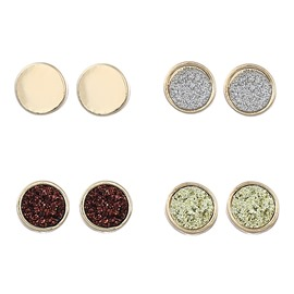 Ericdress Concise Bright Color Alloy Stud Earring