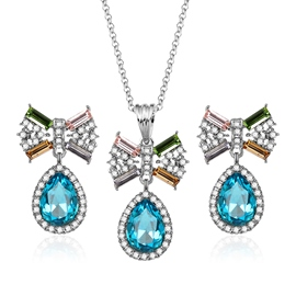 Ericdress Rhinestone Inlay Flower Pendant Jewelry Set for Party