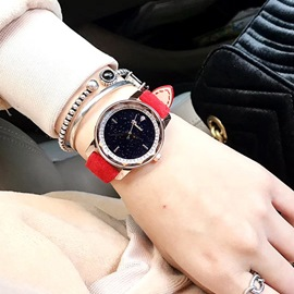 Ericdress All Match Leather Strap Watch for Women