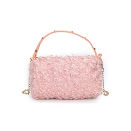 Casual Solid Color Plush Women Evening Clutch