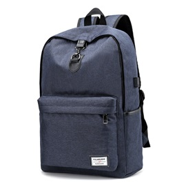 Ericdress Casual Solid Color Oxford Men's Backpack
