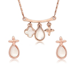 Ericdress Two-Piece Four Leaves Jewelry Set