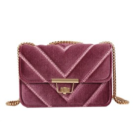 Ericdress Luxurious Solid Color Chain Crossbody Bag