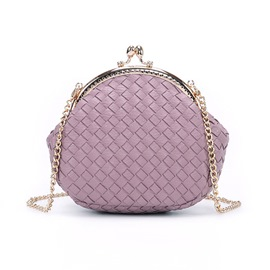 Ericdress Solid Color Knitted Pattern Chain Crossbody Bag