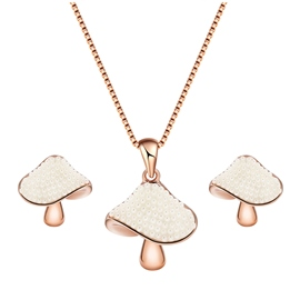 Ericdress Creative Mashroom Pendant Jewelry Set