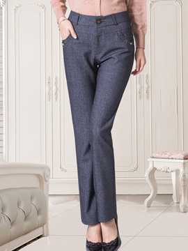 Ericdress Slim Plain Women's Dress Pants