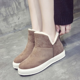 Ericdress Warm Slip-On Platform Women's Boots